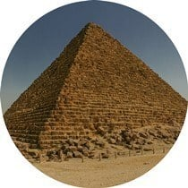One of the three pyramids on the Giza Plateau.