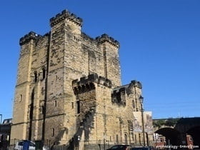 The castle keep of the Medieval castle in Newcastle, England.
